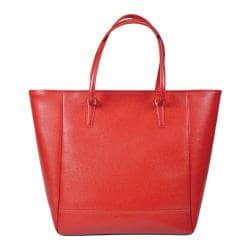 Women's Royce Leather Charlotte Saffiano Tote Bag Red