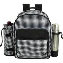 Picnic at Ascot Houndstooth Picnic Coffee Combination Backpack fo Houndstooth
