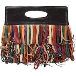 Women's Latico Le Cirque Leather Fringe Clutch 2615 Multi