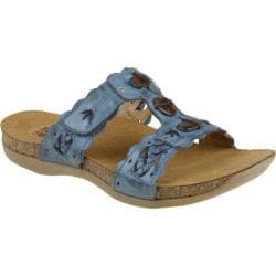 Women's Kalso Earth Shoe Encore Moroccan Blue Full Grain Leather