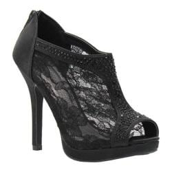 Women's Coloriffics Viv Black Satin/Lace