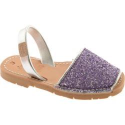 Girls' Castell Flat Menorquinas Glitter Lilac Glitter