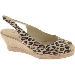 Women's Castell Sara Leopard Sling Back Espadrille Leopard Suede