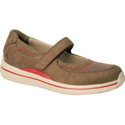 Women's Drew Bailey Dark Brown/Red Microfiber/Mesh