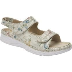 Women's Drew Dora White Floral Snake Print Leather