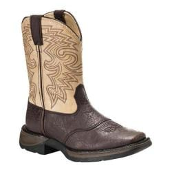 Boys' Durango Boot BT202 8in Rebel Dark Brown/Tan