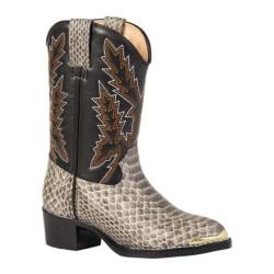 Boys' Durango Boot BT813/913 Natural Backcut Snake Print