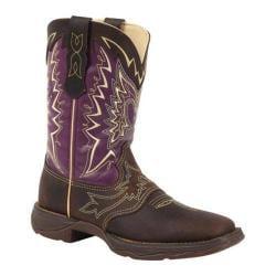 Women's Durango Boot RD027 10in Let Love Fly Dark Brown/Plum