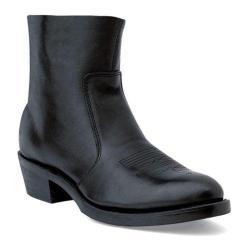 Men's Durango Boot TR820 7 Black Leather Side Zip