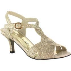 Women's Easy Street Glamorous Easy Flex Gold Glitter