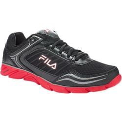 Men's Fila Memory Fresh 2 Black/Fila Red/Metallic Silver