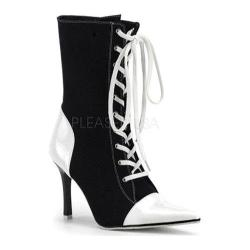 Women's Funtasma Referee 120 Black Canvas/White Patent