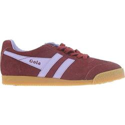 Women's Gola Harrier Suede Burgundy/Lilac