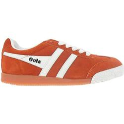 Women's Gola Harrier Suede Orange/White