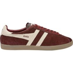 Men's Gola Trainer Suede Burgundy/Ecru