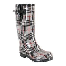 Women's Nomad Puddles Black/Red Plaid