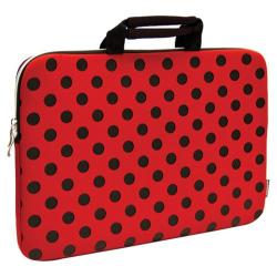 Sumdex NeoArt Printed Neoprene Sleeve - 16in Red/Black Dots