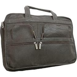 David King Leather 171 Organizer Briefcase Black