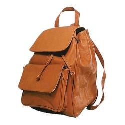 David King Leather 327 Laptop Backpack Tan