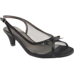 Women's David Tate Prom Black Mesh/Satin