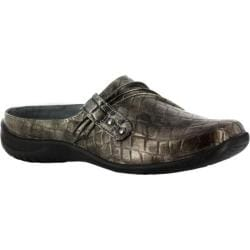 Women's Easy Street Holly Pewter Patent Croco/Brass