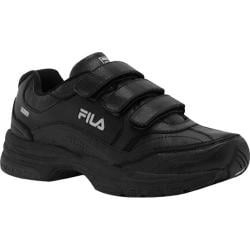 Men's Fila Comfort Trainer Adjustable Black/Black/Metallic Silver