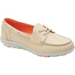 Women's Rockport truWALK Zero II Boat Shoe Bleached Sand Leather
