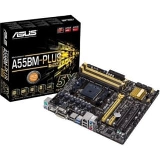 Asus A55BM-PLUS/CSM Desktop Motherboard - AMD A55 Chipset - Socket FM