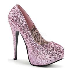 Women's Bordello Teeze 06G Baby Pink Glitter