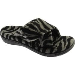 Women's Vionic with Orthaheel Technology Relax Slipper Dark Grey Zebra