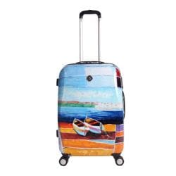 NeoCover Caribbean Relaxation 26-inch Hardside Spinner Suitcase