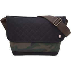 Token Quilted And Waxed Washington Messenger Bag Camouflage/Black