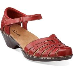 Women's Clarks Wendy River Red Leather