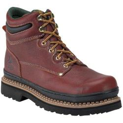 Men's Georgia Boot G63 6in Safety Toe Soggy Redwood Full Grain Leather
