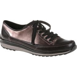 Women's ara Hermione 34715 Silver Metallic/Black Calf