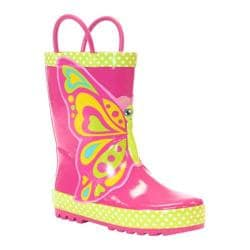 Girls' Western Chief Butterfly Star Rain Boot Pink