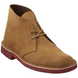 Men's Clarks Desert Boot Oakwood Suede/Red Crepe