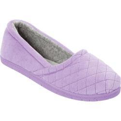Women's Dearfoams Microfiber Velour Espadrille Pretty Purple