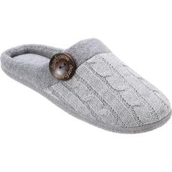Women's Dearfoams Sweater Knit Clog 30167 Light Heather Grey