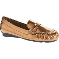 Women's Annie Grapa Bronze Crushed Metallic PU