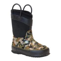 Boys' Western Chief Wilderness Camo Neoprene Boot Olive Green