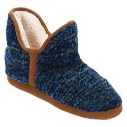 Women's Dearfoams Boucl Knit Boot Blue