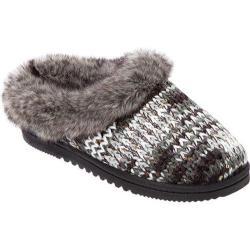 Women's Dearfoams Spaced Dyed Sweater Knit Clog Grey Multi