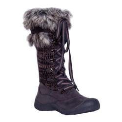 Women's MUK LUKS Gwen Tall Lace Up Snow Boot Grey Marl