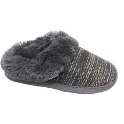 Women's MUK LUKS Knit Clogs Grey Marl