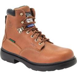 Men's Georgia Boot G66 6in Safety Toe Boot Comfort Core Briar Full Grain Leather