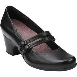 Women's Clarks Sugar Dust Black Leather