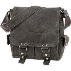 David King Leather 6121 Letter Sized Messenger Grey