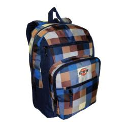 Dickies Double Deluxe Backpack Buffalo Plaid-Blue/Tan