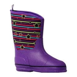 Girls' MUK LUKS Little Splashers Rain Boot Purple